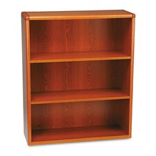 10700 Series Bookcase, 3 Shelves, 36w x 13-1/8d x 43-3/8h, Henna Cherry
