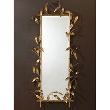 <strong>Global Views</strong> Bamboo Mirror with Gold Finish