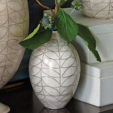 Brushed Leaf Small Egg Vase