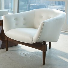 <strong>Global Views</strong> Mimi Leather Lounge Chair