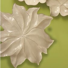 Magnolia Large Platter Decorative Accent in Ivory
