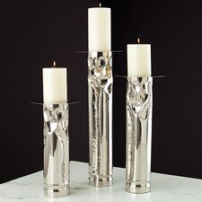 Arts and Crafts Nickel Candle Holder