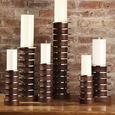 Short Stacked Plate Candle Holder
