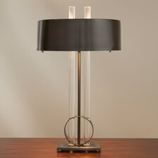 "Radio City 26"" H Table Lamp with Drum Shade"
