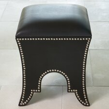 <strong>Global Views</strong> Leather Ottoman