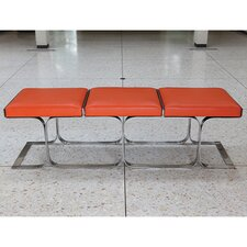 Airline Cowhide Leather Bench