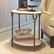 Iron and Stone End Table