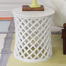 Marble Arabesque End Table