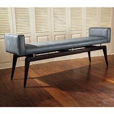 <strong>Global Views</strong> Cowhide Leather Quilted City Bench