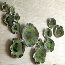 Free Formed Lily Plate Wall Decor in Green