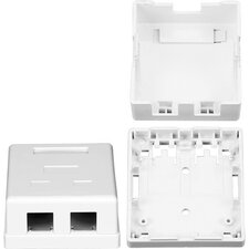 Two RJ45 Cavities Surface Mount Box