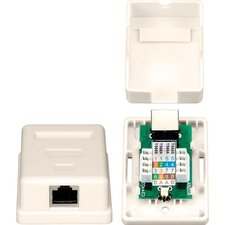 One RJ45 Shielded Keystone Jack Surface Mount Box
