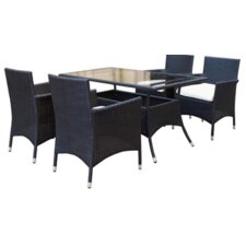 Mulberry 5 Piece Dining Set with Cushions