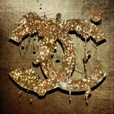 'Glitter And Gold' Graphic Art on Canvas