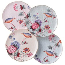 Harlequin Cuckoo Tea Plates (Set of 4)