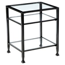 Haycock End Table in Black