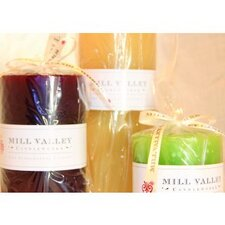 <strong>Mill Valley Candleworks</strong> Pillar Candle (Set of 3)
