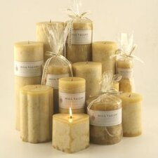 Polynesian Vanilla Scented Pillar Candles (Set of 3)