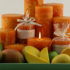 Mango Citrus Scented Pillar Candle