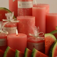 Watermelon Scented Pillar Candle