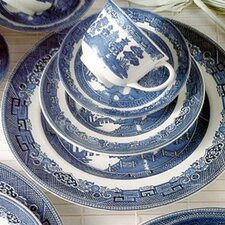 <strong>Johnson Brothers</strong> Willow Blue 5 Piece Place Setting