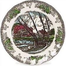 "Friendly Village 10"" Dinner Plate"