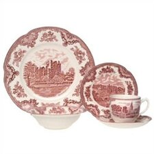<strong>Johnson Brothers</strong> Old Britain Castles Pink 20 Piece Dinnerware Set