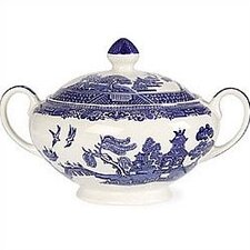 <strong>Johnson Brothers</strong> Willow Blue Sugar Bowl with Lid