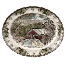 Friendly Village Oval Platter