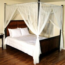 Palace 4-Post Bed Sheer Panel Canopy Net