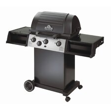 "11"" Cast Aluminum Propane Gas Grill with 3 Dual-Tube Burners"