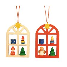 Advent Windows Ornament (Set of 2)