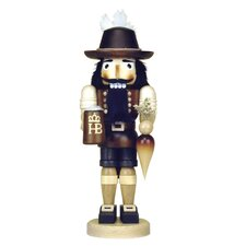 Natural Wood Dark Colored Bavarian Nutcracker