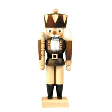 Brown Natural Wood Finish Solider Nutcracker