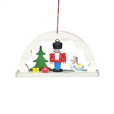 Archway with Nutcracker and Rocking Horse Ornament