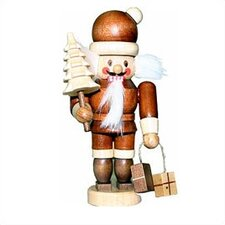 Natural Light Wood Mini Santa Nutcracker