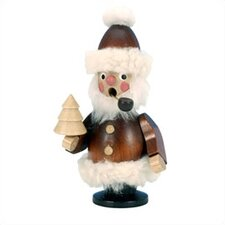 Natural Wood Santa with Pipe Incense Burner