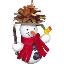 Snowman with Pine Hat Ornament