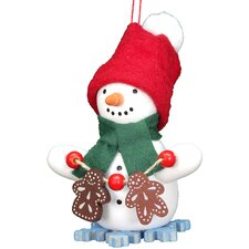 Snowman with Gingerbread Ornament