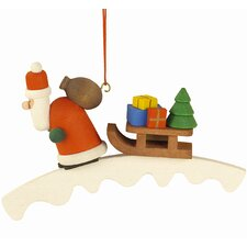 Santa with Sled Ornament