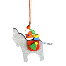 Donkey with Santa Ornament