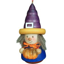 Witch with Pumpkin Ornament