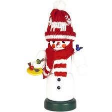 Snowman with Knitted Scarf And Hat Nutcracker