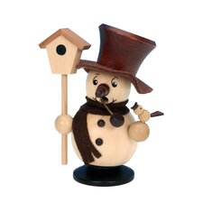 Snowman with Birdhouse Incense Burner