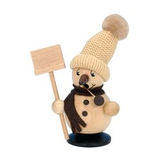 Snowman with Snow Shovel Incense Burner
