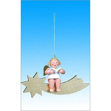 Angel on Comet Ornament