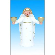 Starry Moon Angel Candle Holder