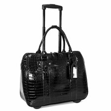 Patent Croco Laptop Briefcase