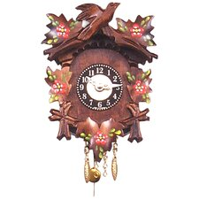 Carved Clock with Flowers