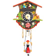Battery Operated Clock with Teeter Totter Girl